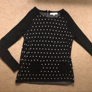 Loft polka dot sweater, never worn Sz M.